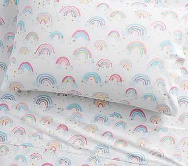 Organic Rainbow Cloud Sheet Set, Standard Pillow Case, White - Pottery Barn Kids