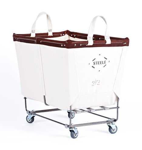 2-1/2 Bushel Steele Canvas Laundry Bin - Rejuvenation