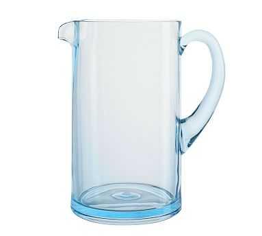 Happy Hour Pitcher, Aqua - Pottery Barn