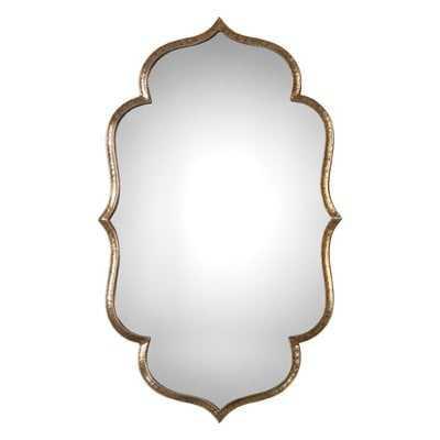 Lightly Antiqued Metallic Gold Wall Mirror - Wayfair