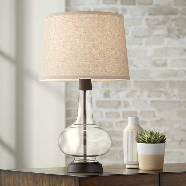 Silas Bronze-Rubbed Metal and Glass Table Lamp - Style # 60N04 - Lamps Plus