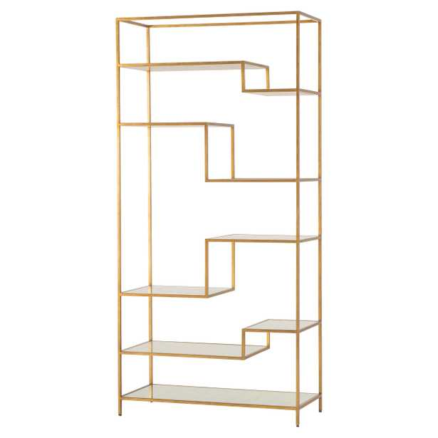 Resource Decor Ward Modern Classic Gold Metal Bookcase Display Case - Kathy Kuo Home