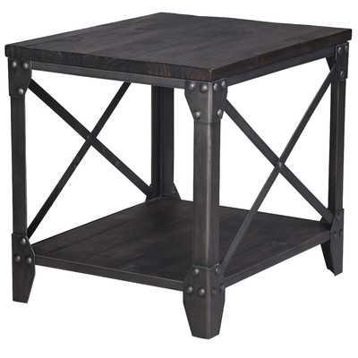 Ensley Industrial End Table - Wayfair