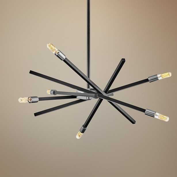 "Hinkley Archer 26"" Wide Satin Black 6-Light Pendant Light - Style # 70W66 - Lamps Plus"