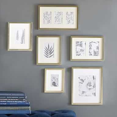 Gallery Frames in a Box, Set of 6, Champagne - Pottery Barn Teen