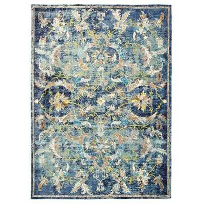 Amory Jacobean Blue Area Rug - Wayfair