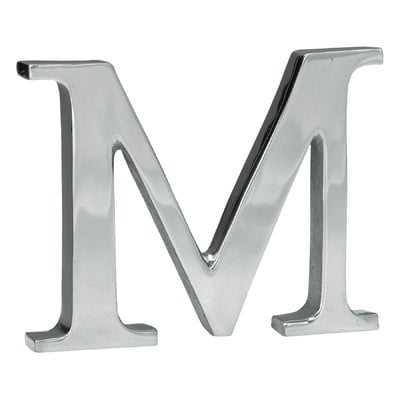 Lyla Silver Aluminum Letter Block - Wayfair