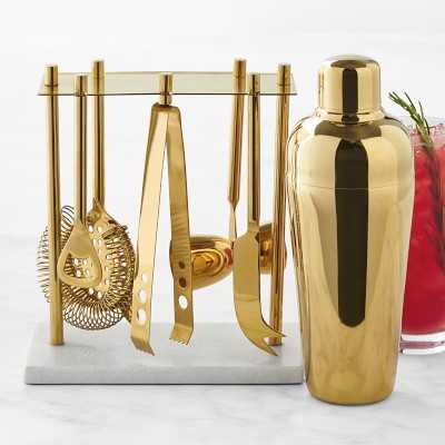 Gold Bar Tools Set with Cocktail Shaker - Williams Sonoma