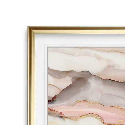 'Graceful Marble II' Framed Print - Wayfair