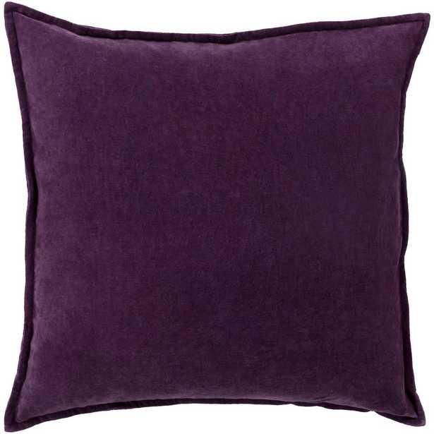 Velizh Poly Euro Pillow, Dark Purple - Home Depot