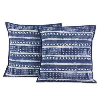 Hmong Charm Striped Hill Tribe Batik Cotton Pillow Cover - AllModern