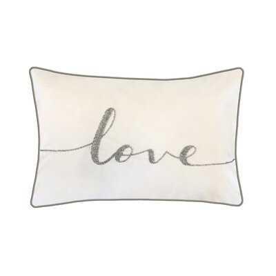"""Kenosha Beaded """"Love"""" Decorative Lumbar Pillow - Wayfair"""