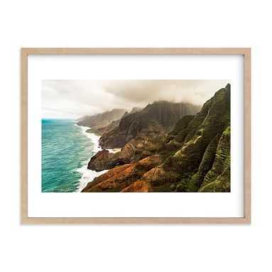 "Na Pali Coast, Kauai, HI Framed Art by Minted(R), 18""x24"", Natural - Pottery Barn Teen"