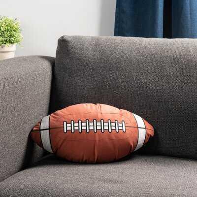 "Football Shape 18"" x 12"" Decorative Throw Pillow - Wayfair"