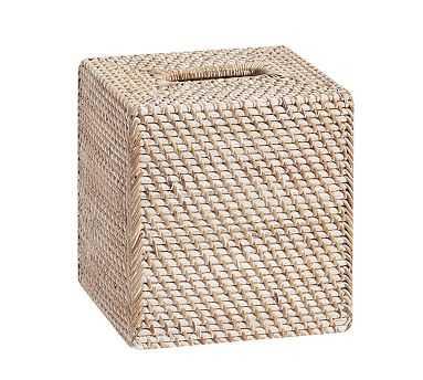 Tava Tissue Cover, Whitewash - Pottery Barn