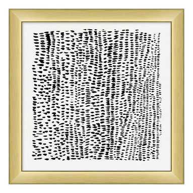 """Animal Pattern Framed Art, black/gold frame, 16""""x16"""" - Pottery Barn Teen"""