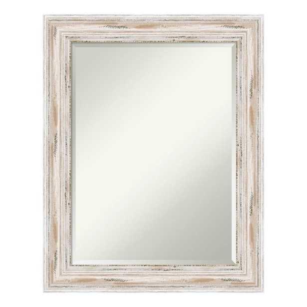 Alexandria White Wash Wood 23 in. x 29 in. Distressed Bathroom Vanity Mirror, Distressed Whitewash - Home Depot