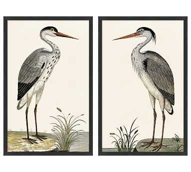 Spotted Herons - Set of 2 - Pottery Barn