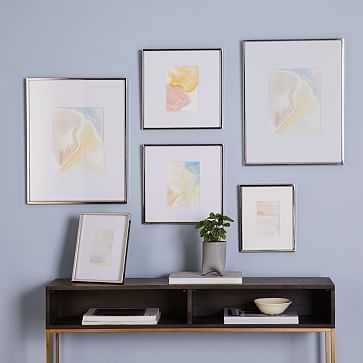 Gallery Frames, Polished Nickel, Set of 6 - West Elm