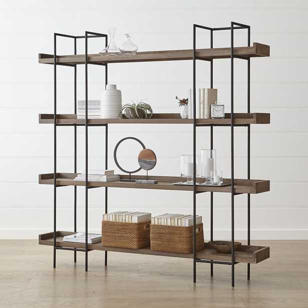 Beckett Grey Wash 4-High Shelf - Crate and Barrel