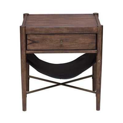 Mervela Modern Retro Style End Table with Storage - AllModern
