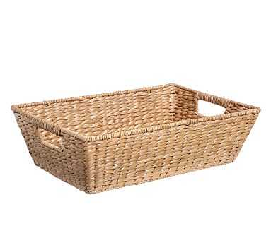 "Savannah Underbed Basket, Medium (22"" x 14"") - Pottery Barn"