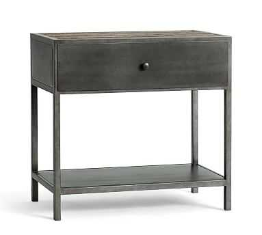 Big Daddy's Antiques Wood/Metal Nightstand, Sienna Reclaimed Pine - Pottery Barn
