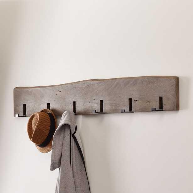Yukon Grey Wall Coat Rack - Crate and Barrel