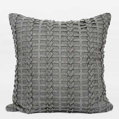Luxury Handmade Textured Pillow Cover - Wayfair