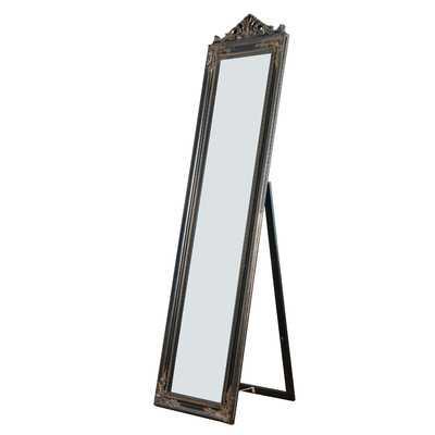 Crown Rectangle Standing Wall Mirror Black - Wayfair