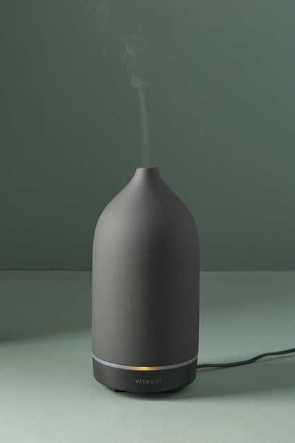 Vitruvi Black Stone Essential Oil Diffuser - Anthropologie