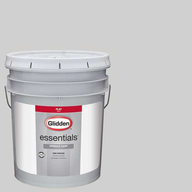 Glidden Essentials 5 gal. #HDGCN57U Wisdom Grey Flat Interior Paint, Grays - Home Depot