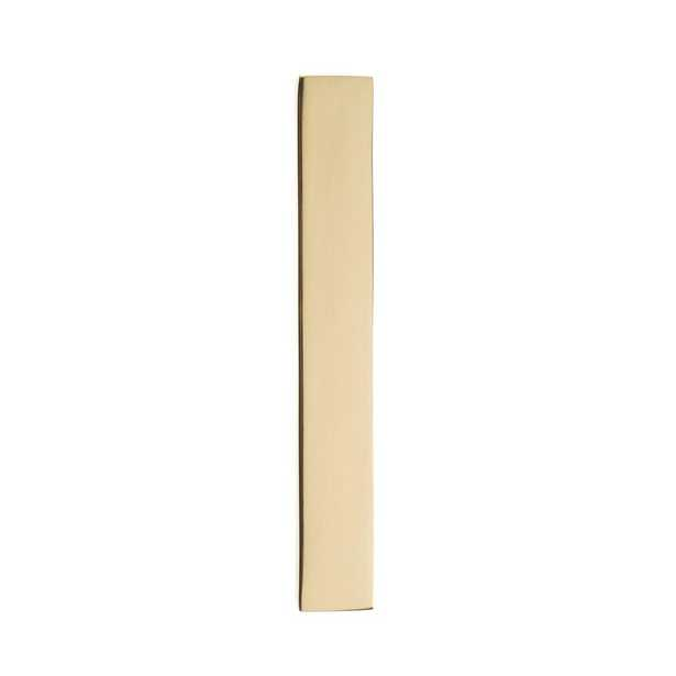 5 in. Polished Brass House Number 1 - Home Depot