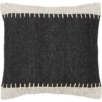 Kleinschmidt Solid & Border 20 X 20 Black, Ivory Pillow Cover - Wayfair