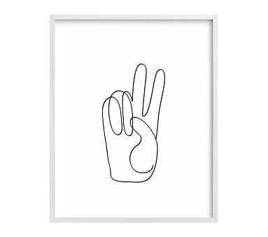 Chasing Paper Peace Sign Art, White - Pottery Barn Kids