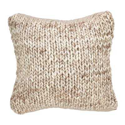 Deimer Chunky Wool Cable Knit Throw Pillow - Birch Lane