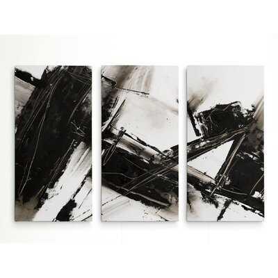 A Premium 'Diagonal Matrix II' Print Multi-Piece Image on Canvas - Wayfair