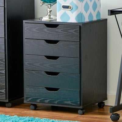 Riley 5 Drawer Halifax Mobile Cabinet - Wayfair