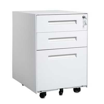 Hagen 3-Drawer Mobile Vertical Filing Cabinet - Wayfair