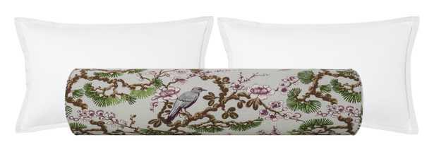 """The Bolster :: Trellis Linen Print  // Fern - QUEEN // 9"""" X 36"""" - Little Design Company"""