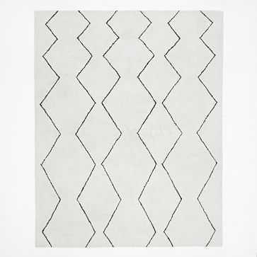 Souk Wool Nursery Rug, 8'x10', Ivory - West Elm