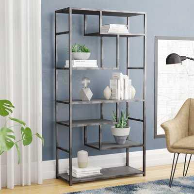 Anabelle Geometric Bookcase - Wayfair