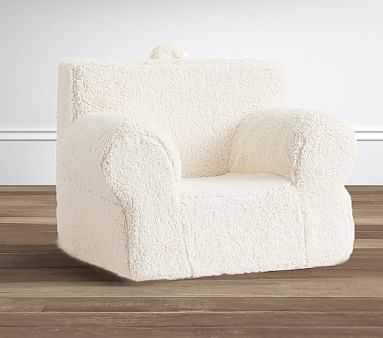 Oversized Cream Sherpa Anywhere Chair(R) - Pottery Barn Kids