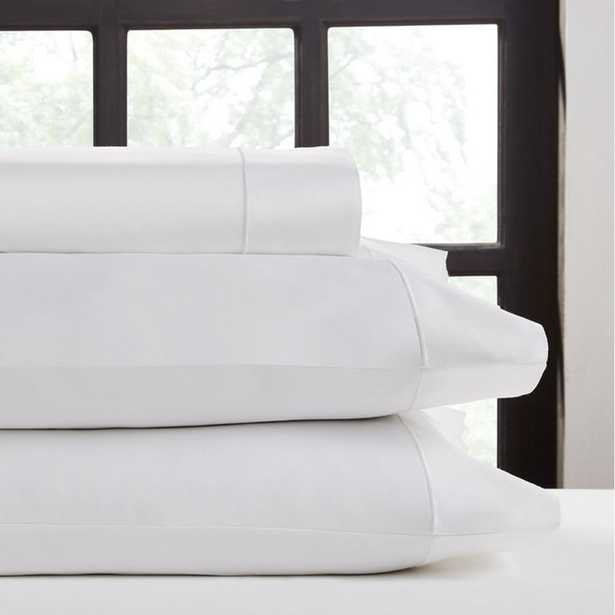 4-Piece White Cotton King Sheet Set - Home Depot