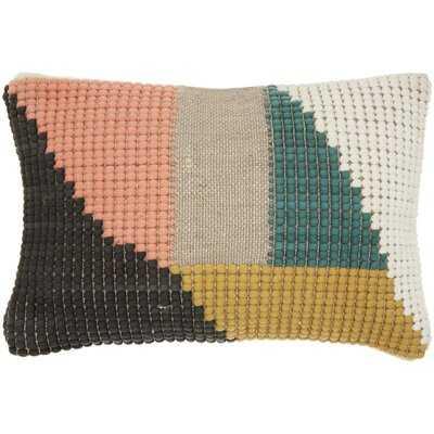 Cotton Geometric Lumbar Pillow - AllModern
