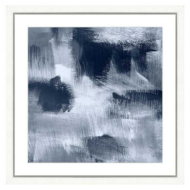 """Vintage Print Gallery """"Navy blue abstract II"""" Framed Archival Paper Wall Art (24x24 in full size) - Home Depot"""