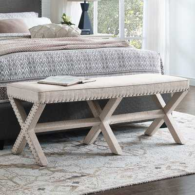 Wynwood X Base Upholstered Bench - Wayfair