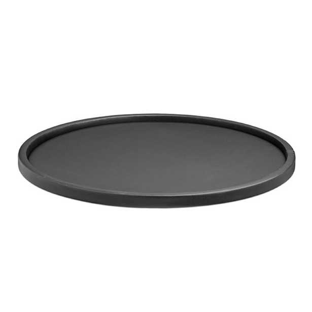 Contempo 14 in. Round Serving Tray in Black - Home Depot