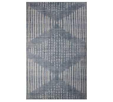 Shibori Indoor/Outdoor Rug, 8' x 10', Indigo - Pottery Barn