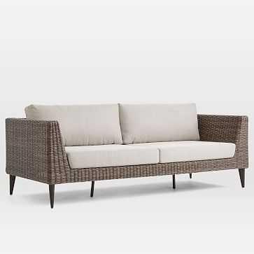 Marina Outdoor Sofa, Weathered Cafe - West Elm